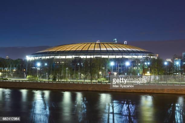 Luzhniki Stadium at dusk