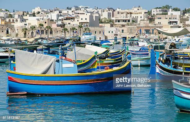 Luzzi in Marsaxlokk harbour, Malta