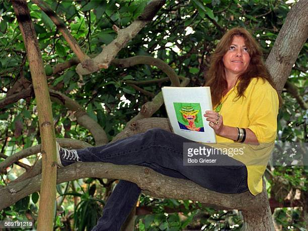 LVFleener/tree9dec96––Mary Fleener a comic book artist and illustrator has been scene by friends sitting in her avocado tree with sketch pad in hand...