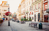 morning promenade in Lviv city centre
