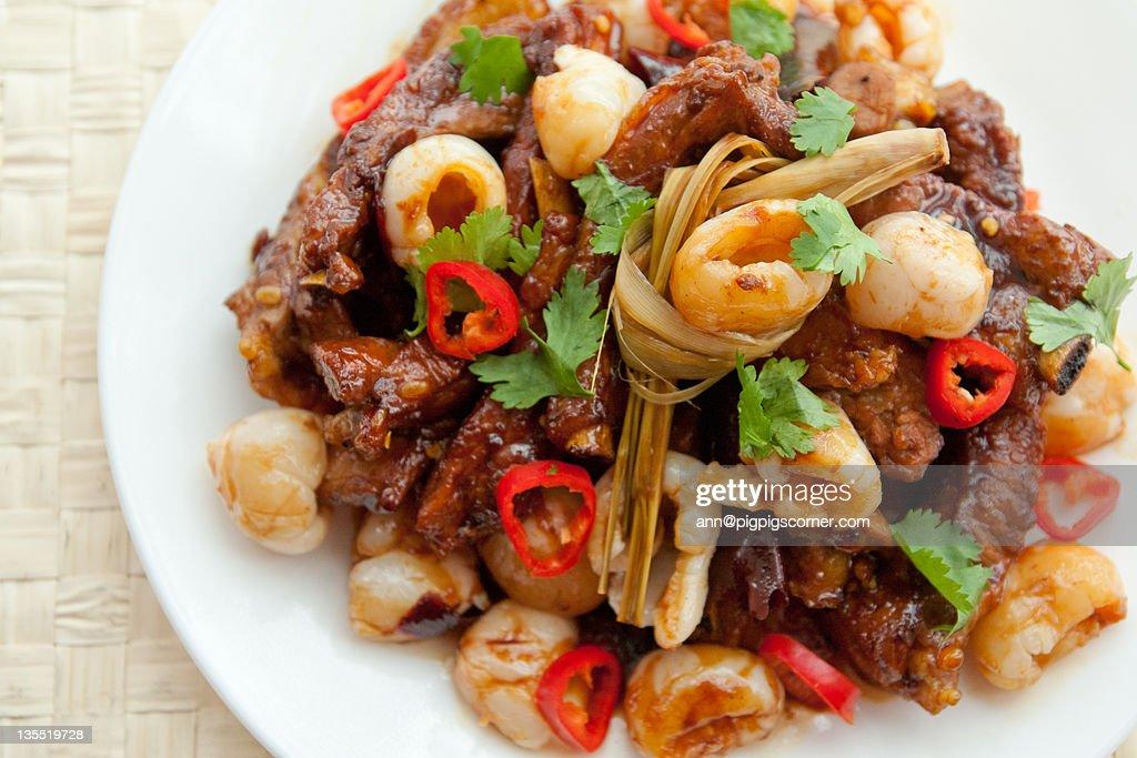 Lychee pork ribs : Stock Photo