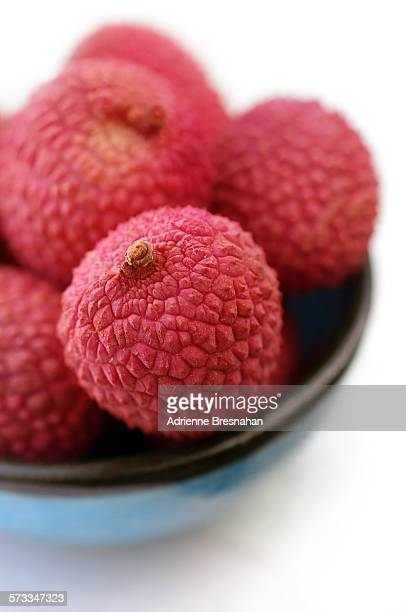 Lychees in Blue Bowl