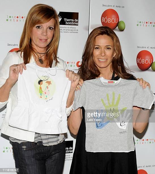 Lydia Bosch and Belinda Washington launch 'Los Colores de la Vida' benefit campaign organized by 'Tierra de Hombres' Foundation and held at Casino de...