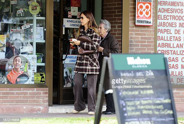 Lydia Bosch and her mother Lydia de Buen are seen on November 29 2012 in Madrid Spain