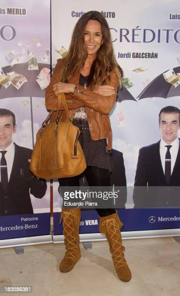 Lydia Bosch attends 'El credito' premiere at Maravillas theatre on October 7 2013 in Madrid Spain