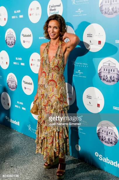 Lydia Bosch attends Rosaio concert at Teatro Real on July 28 2017 in Madrid Spain