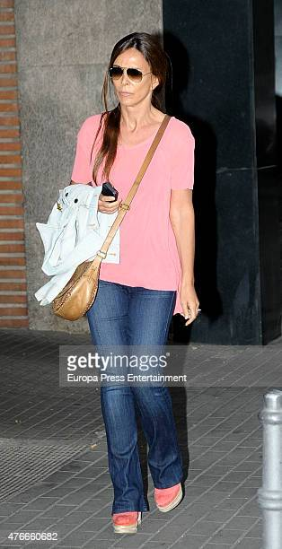 Lydia Bosch attends the babyshower party of Gemma RuizCuadrado on June 10 2015 in Madrid Spain