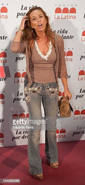 Lydia Bosch attends theatre opening season photocall at La Latina Theatre on September 13 2010 in Madrid Spain