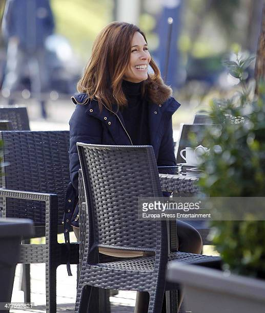 Lydia Bosch is seen on the set filming 'Robada' on February 26 2014 in Madrid Spain
