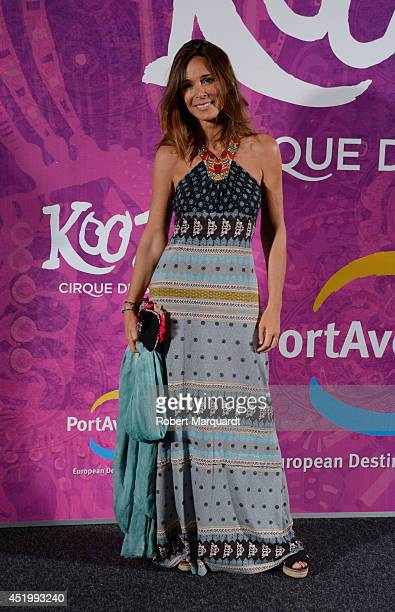 Lydia Bosch poses during a photocall for the premiere of 'Kooza' a Cirque du Soleil production at Portaventura on July 10 2014 in Salou Spain