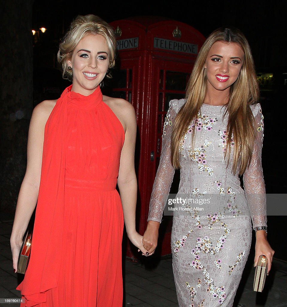 Lydia Bright and Lucy Mecklenburgh at STK London restaurant 25 images on January 19, 2013 in London, England.