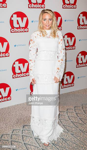 Lydia Bright arrives for the TVchoice Awards at Dorchester Hotel on September 5 2016 in London England