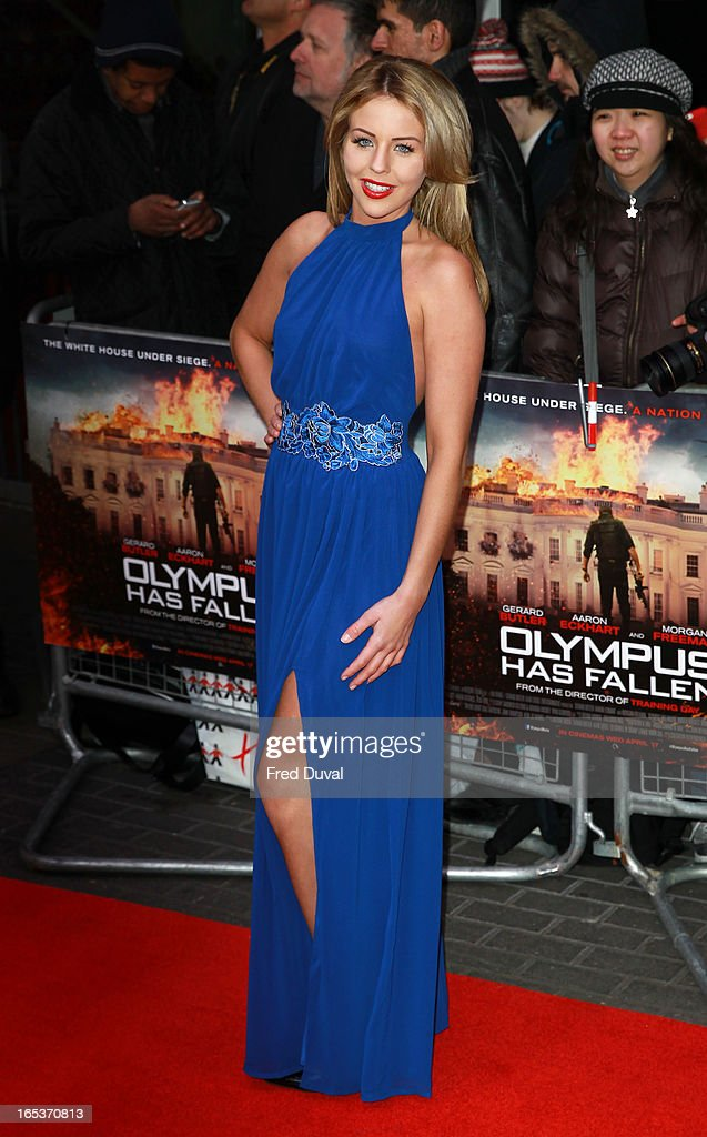 Lydia Bright attends the UK Premiere of 'Olympus Has Fallen' at BFI IMAX on April 3, 2013 in London, England.