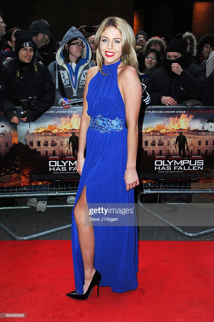 Lydia Bright attends the UK premiere of 'Olympus Has Fallen' at The IMAX on April 03, 2013 in London, England.