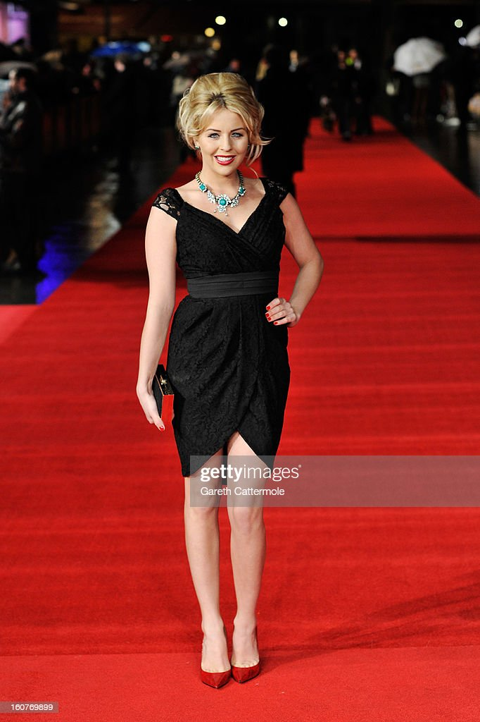 Lydia Bright attends the UK Premiere of 'Run For Your Wife' at Odeon Leicester Square on February 5 2013 in London England