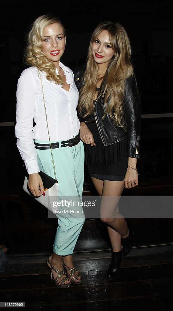 Lydia Bright from the TV series 'The Only Way Is Essex ' (L) and Zara Martin attend Trust In Fashion at One Mayfair on the 29 June,2011in London,England.
