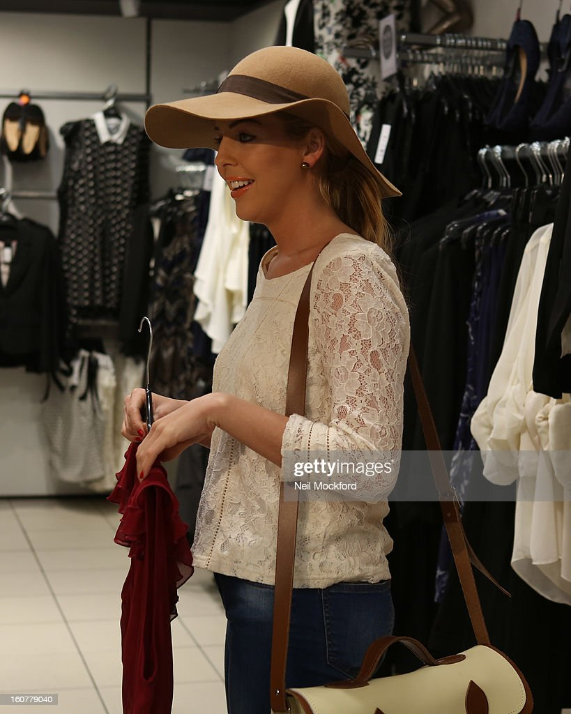 Lydia Bright gives the couple from 'The Undateables' a makeover at New Look, Oxford St on February 5, 2013 in London, England.