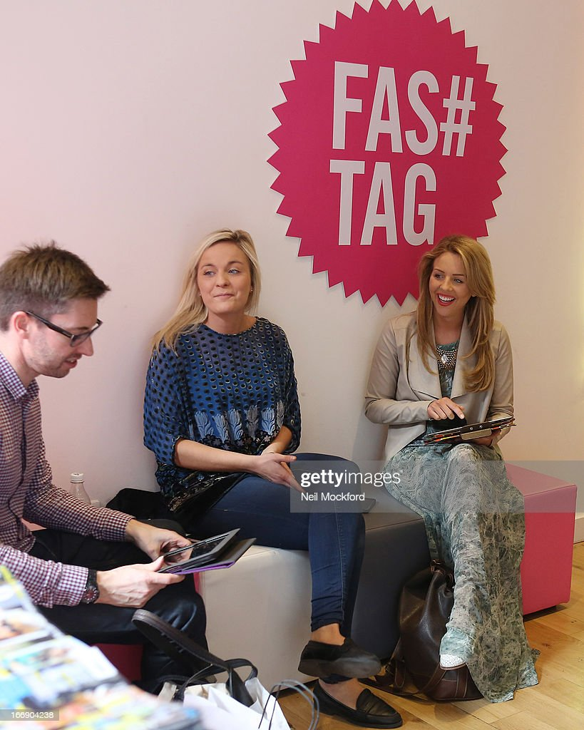 Lydia Bright is pictured at 'Fas tag' to finalise plans for the launch of Lydia Bright's clothing line 'Bella Sorella' appearing in a number of pop-up stores around the UK, including Kingly Court off Carnaby St from the 18 - 21 of September 2013 on April 18, 2013 in London, England.