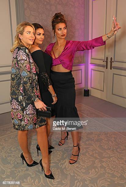 Lydia Bright Jess Wright and Ferne McCann attend the annual British Takeaway Awards in association with Just Eat at the Savoy Hotel in London The...
