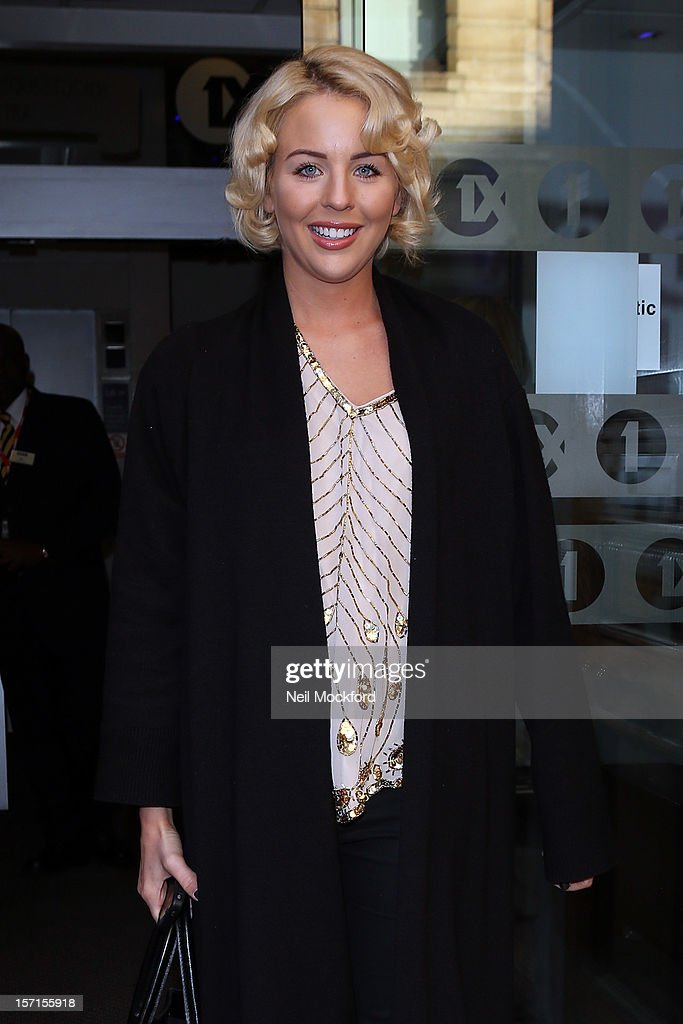 Lydia Bright seen at BBC Radio One on November 29, 2012 in London, England.