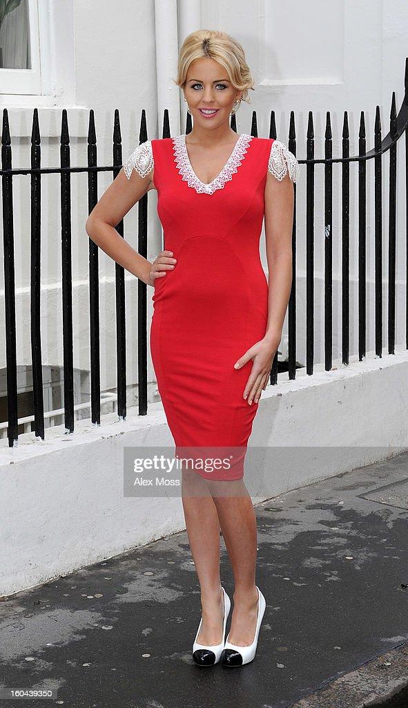 Lydia Bright seen in Soho on January 31, 2013 in London, England.