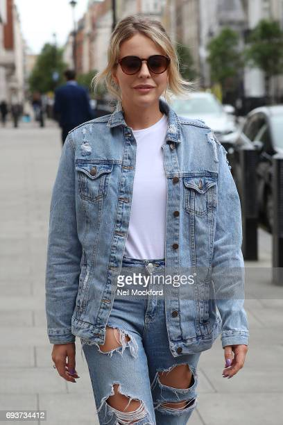 Lydia Bright seen leaving BBC Radio One on June 8 2017 in London England