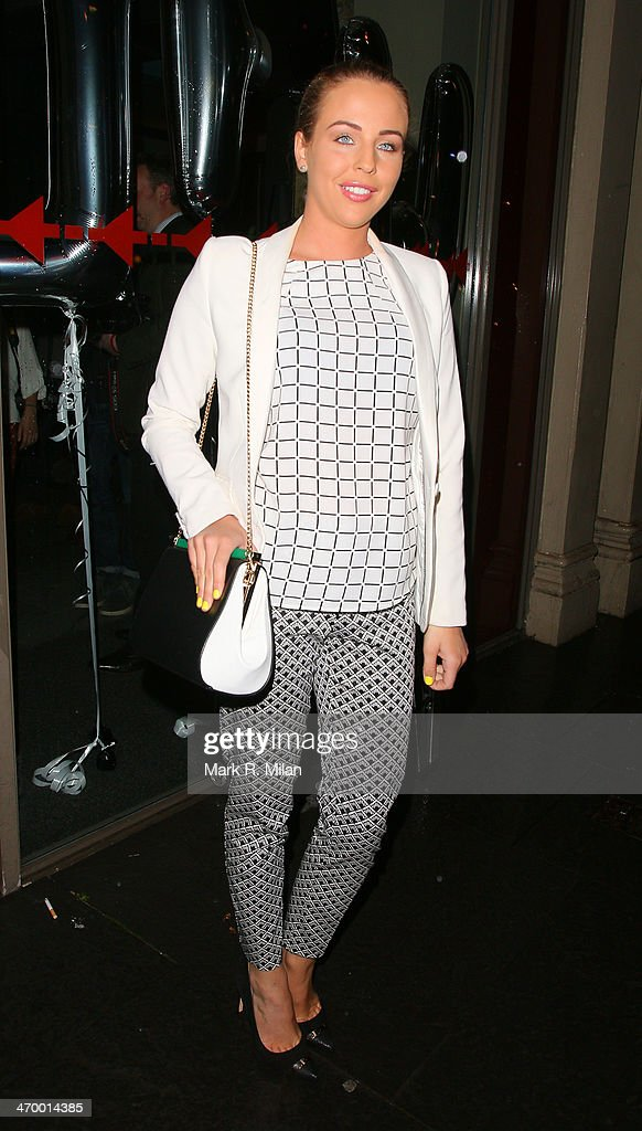 Lydia Bright sighted at the Storm model agency party during London Fashion Week on February 17, 2014 in London, England.