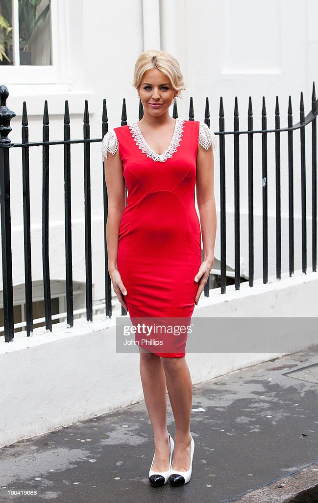 Lydia Bright unveils the spring/summer 2013 collection from her womenswear label at The House of St Barnabas on January 31, 2013 in London, England.
