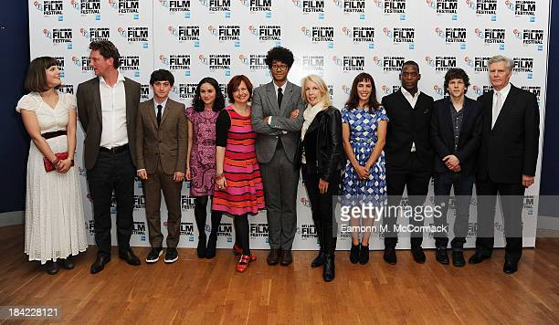 Lydia Fox Robin Fox Craig Robert Yasmin Paige BFI London Film Festival director Clare Stewart Richard Ayoade Chief Executive of the BFI Amanda Nevill...