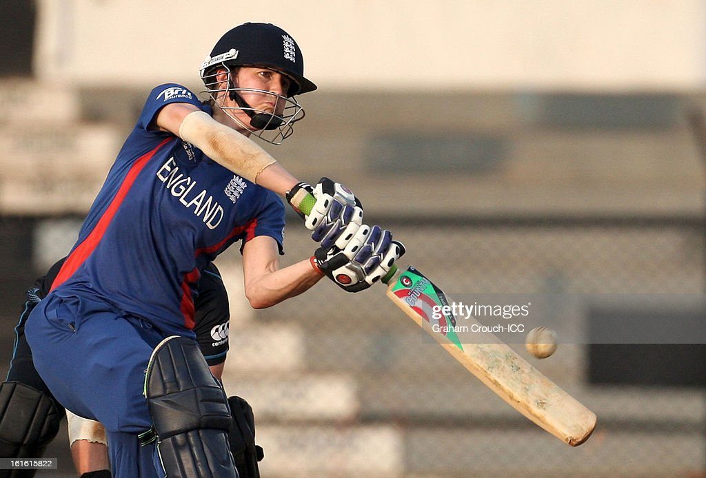 Lydia Greenway of England batting during of the Super Sixes ICC Women's World Cup India 2013 match between New Zealand and England at the Cricket Club of India ground on February 13, 2013 in Mumbai, India.