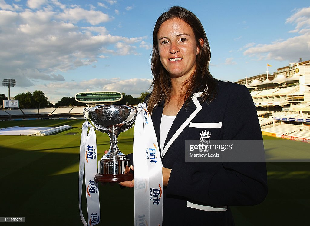 Lydia Greenway of England poses after winning the 'Womens Cricketer of the Year Award' during the ECB Cricketer of the Year Dinner at Lord's Cricket Ground on May 31, 2011 in London, England.