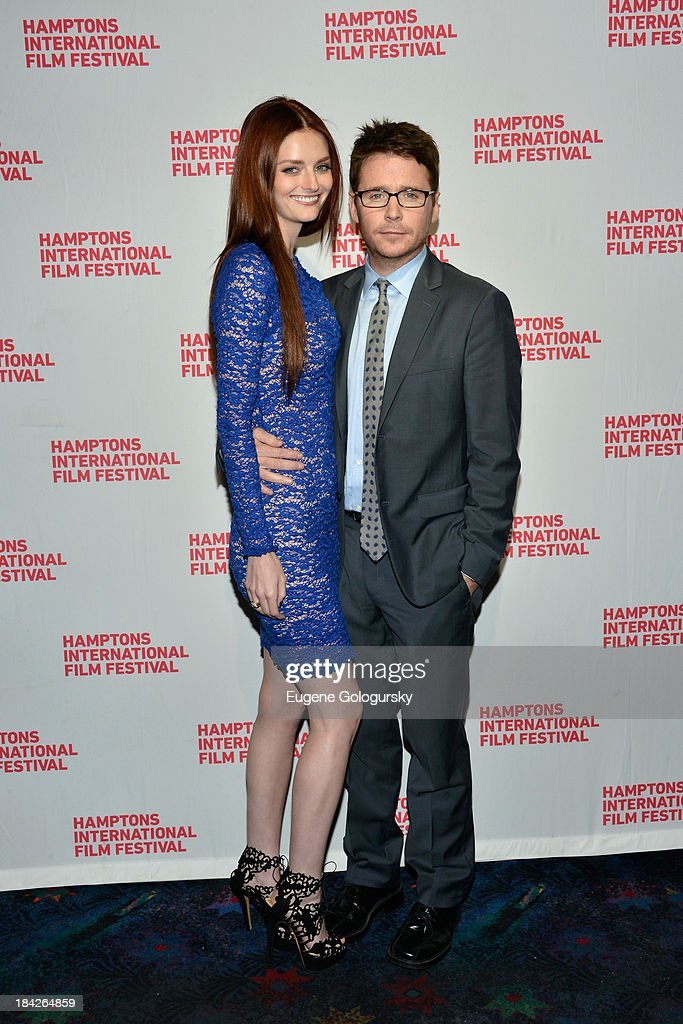 Lydia Hearst and actor Kevin Connolly attend the 21st Annual Hamptons International Film Festival on October 12 2013 in East Hampton New York