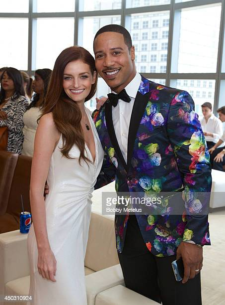Lydia Hearst and Brian White together at the Catwalk for Charity 2014 fundrasing event at JW Marriott Marquis on June 8 2014 in Miami Florida