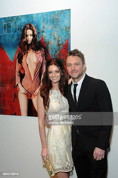 Lydia Hearst and Chris Hardwick attend the Treats Magazine hosts their Issue 8 Launch Party at the Treats Oscar Villa presented by OMNIA on February...