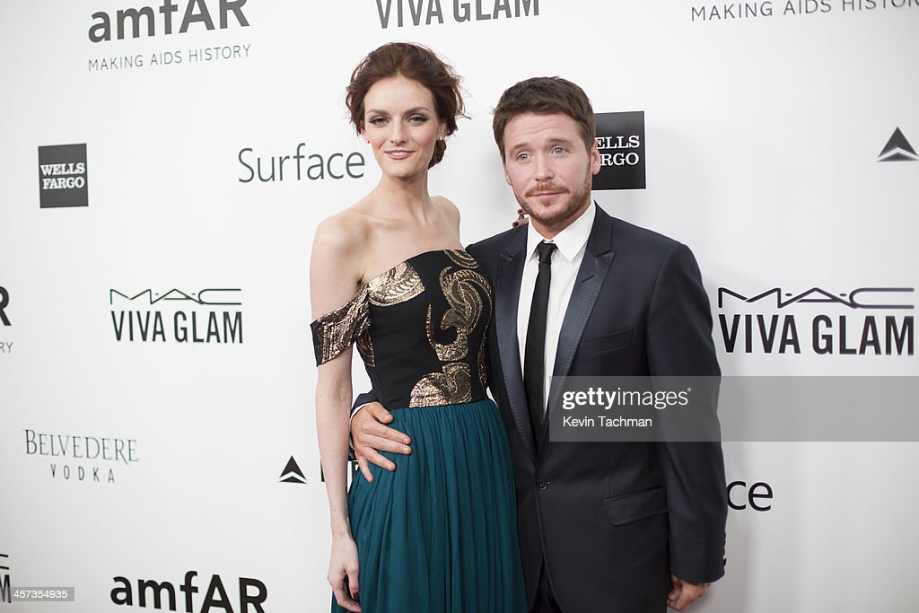 Lydia Hearst and Kevin Connolly attend the 2013 amfAR Inspiration Gala Los Angeles at Milk Studios on December 12, 2013 in Los Angeles, California.