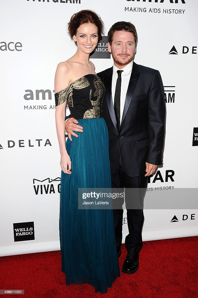 Lydia Hearst and Kevin Connolly attend the amfAR Inspiration Gala at Milk Studios on December 12, 2013 in Hollywood, California.