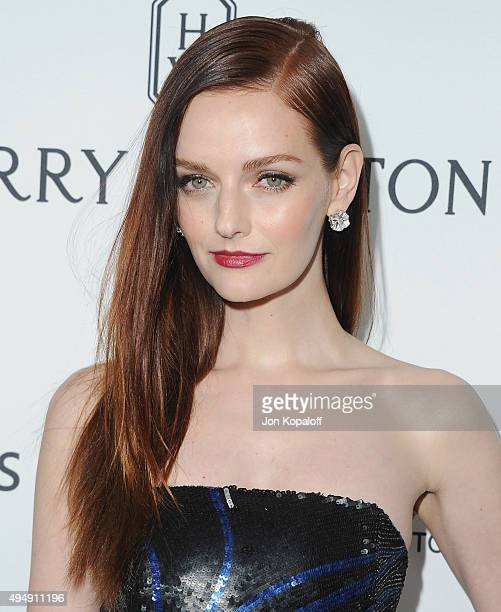 Lydia Hearst arrives at amfAR's Inspiration Gala Los Angeles at Milk Studios on October 29 2015 in Hollywood California