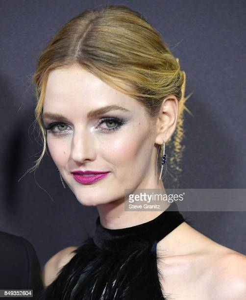 Lydia Hearst arrives at the 69th Annual Primetime Emmy Awards at Microsoft Theater on September 17 2017 in Los Angeles California