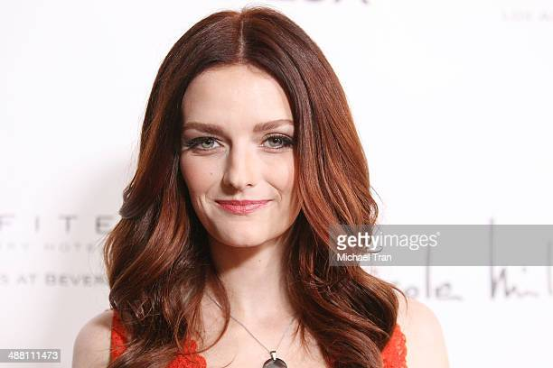 Lydia Hearst arrives at the Genlux Magazine Issue Release Party held at Sofitel Hotel on May 3 2014 in Los Angeles California