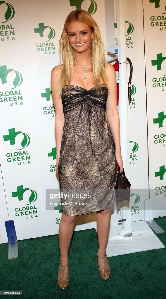 Lydia Hearst arrives at the Global Green USA's Annual Oscar Party at the Henry Fonda Music Box Theatre on March 3 2006 in Hollywood California