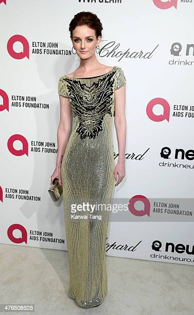 Lydia Hearst arrives for the 22nd Annual Elton John AIDS Foundation's Oscar Viewing Party held at West Hollywood Park on March 2 2014 in West...