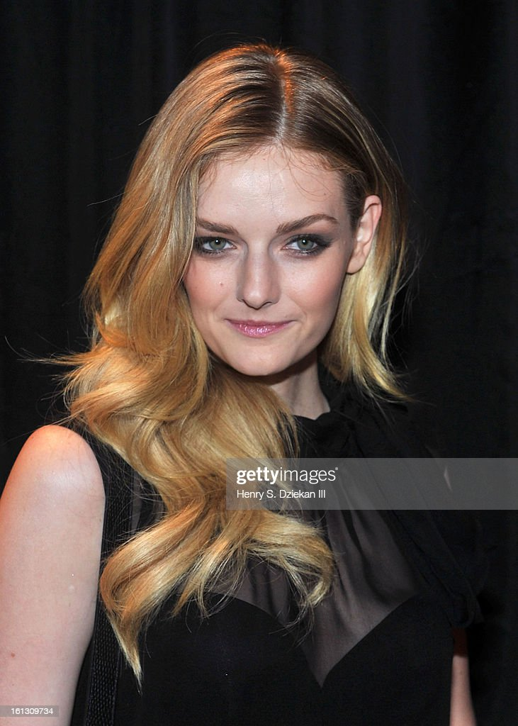 Lydia Hearst attends Christian Siriano during Fall 2013 Mercedes-Benz Fashion Week at Eyebeam on February 9, 2013 in New York City.