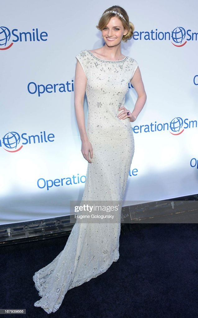 Lydia Hearst attends Operation Smile's 30th anniversary celebration at Cipriani 42nd Street on May 2, 2013 in New York City.