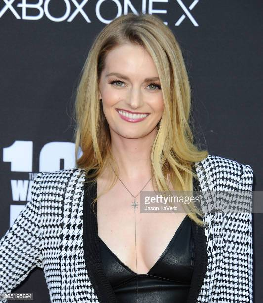 Lydia Hearst attends the 100th episode celebration off 'The Walking Dead' at The Greek Theatre on October 22 2017 in Los Angeles California