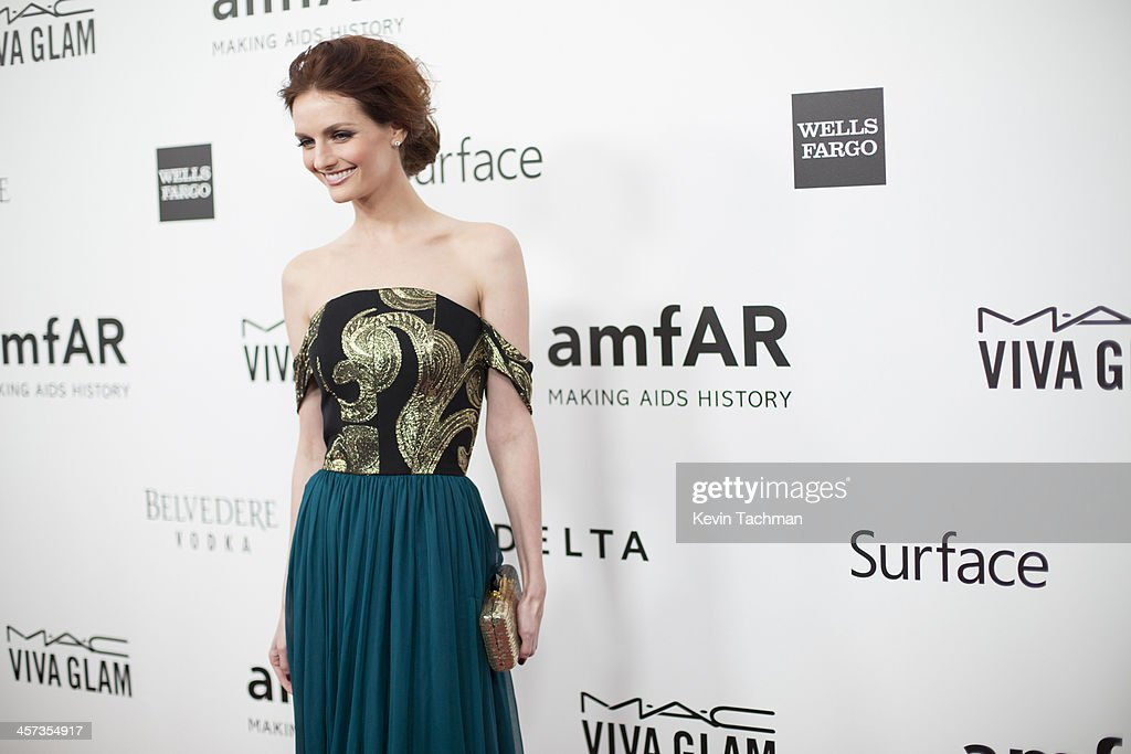 Lydia Hearst attends the 2013 amfAR Inspiration Gala Los Angeles at Milk Studios on December 12, 2013 in Los Angeles, California.