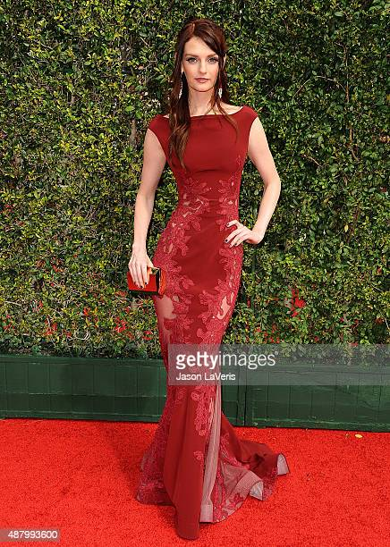 Lydia Hearst attends the 2015 Creative Arts Emmy Awards at Microsoft Theater on September 12 2015 in Los Angeles California