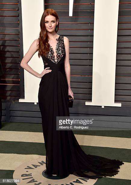 Lydia Hearst attends the 2016 Vanity Fair Oscar Party hosted By Graydon Carter at Wallis Annenberg Center for the Performing Arts on February 28 2016...