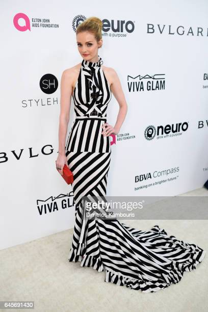 Lydia Hearst attends the 25th Annual Elton John AIDS Foundation's Academy Awards Viewing Party at The City of West Hollywood Park on February 26 2017...