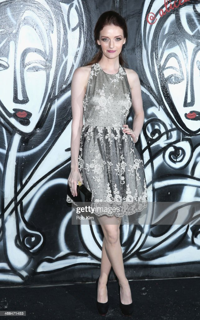 <a gi-track='captionPersonalityLinkClicked' href=/galleries/search?phrase=Lydia+Hearst&family=editorial&specificpeople=221723 ng-click='$event.stopPropagation()'>Lydia Hearst</a> attends the alice + olivia Fall 2014 presentation with TRESemme at The McKittrick Hotel on February 10, 2014 in New York City.