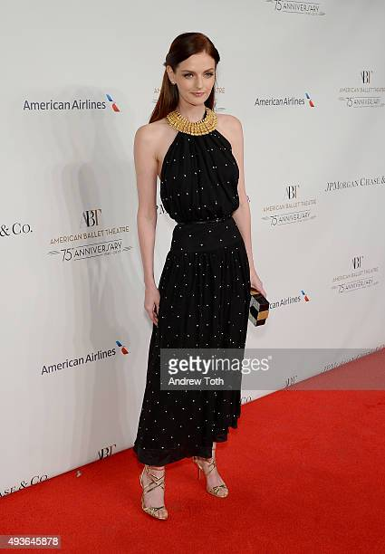 Lydia Hearst attends the American Ballet Theatre's 75th Anniversary Gala at David H Koch Theater Lincoln Center on October 21 2015 in New York City